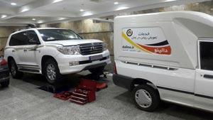 تعویض روغن خودروی لندکروز در پارکینگ (استفاده از پل)